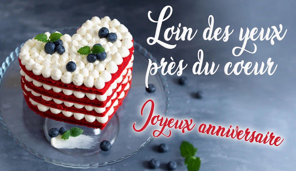 Carte virtuelle annversaire  a distance