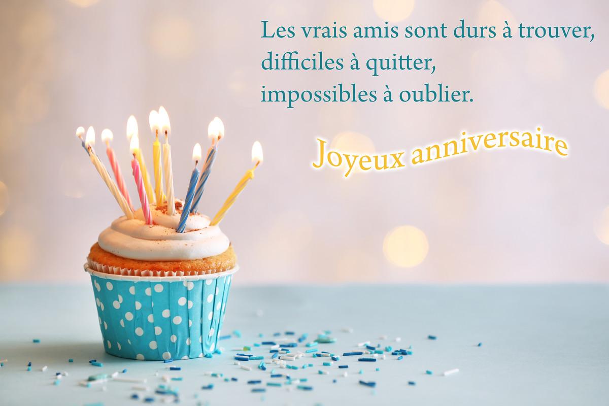 Carte anniversaire amitie