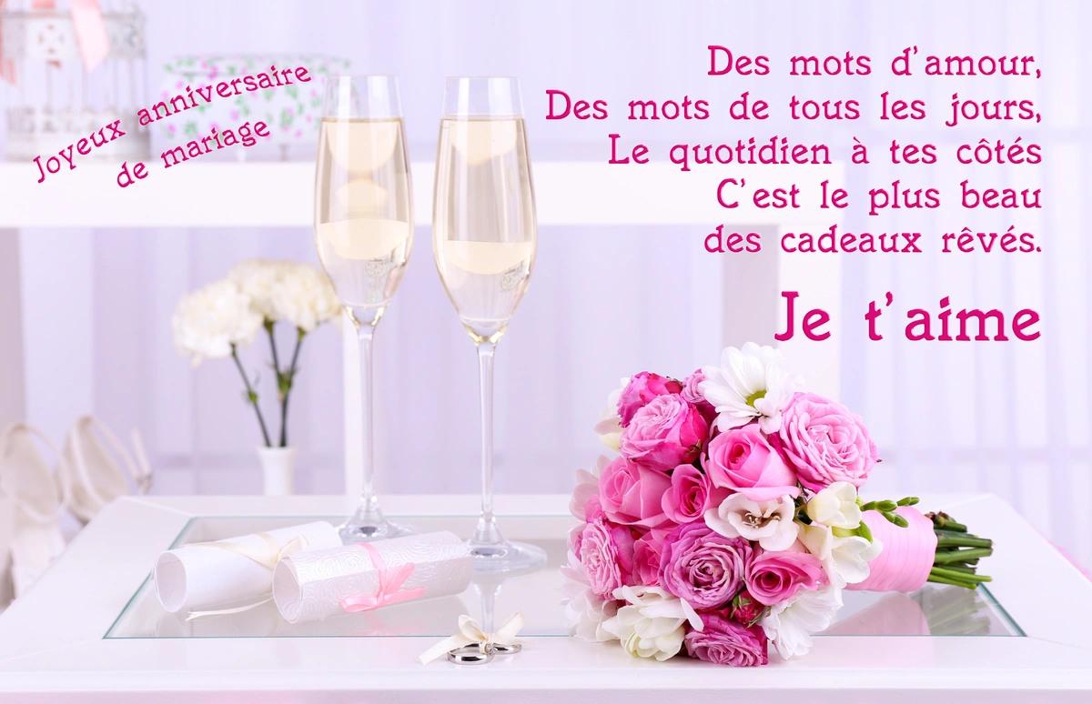 carte virtuelle anniversaire de mariage Cartes virtuelles anniversaire de mariage   Joliecarte