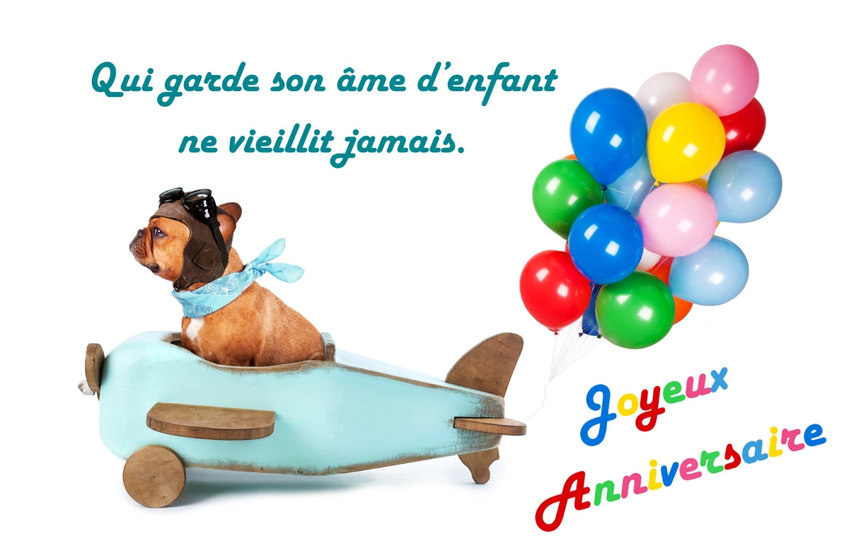 Carte anniversaire citation texte