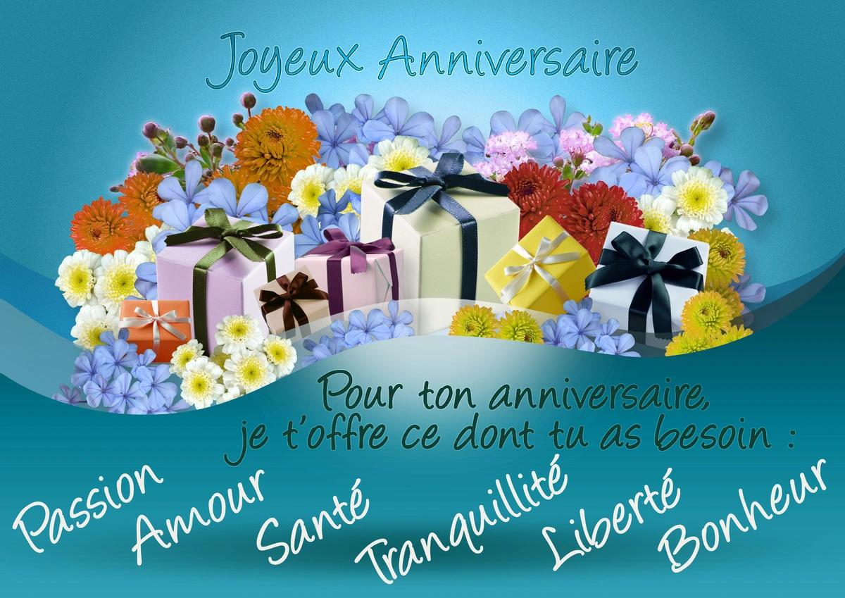 Cartes virtuelles voeux anniversaire joliecarte - Image pour anniversaire gratuite ...