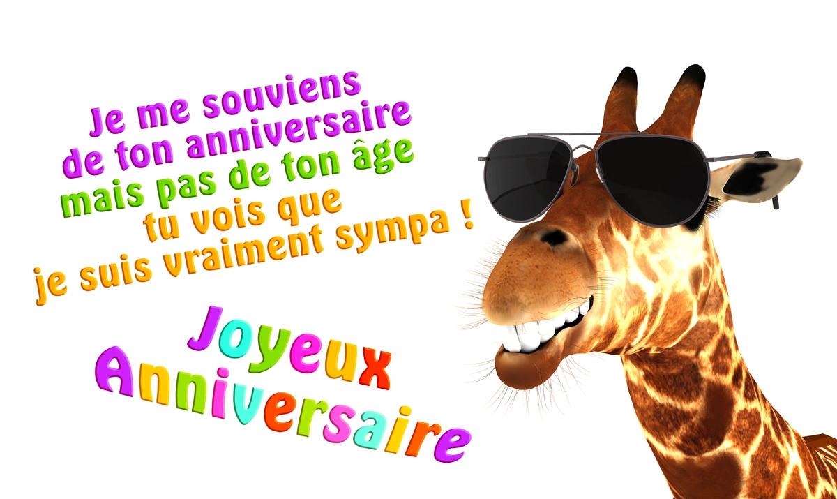 Carte d anniversaire humouristique