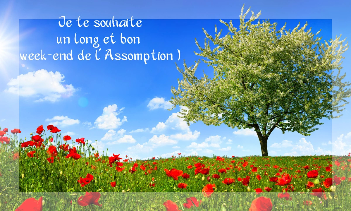 Bon week end assomption