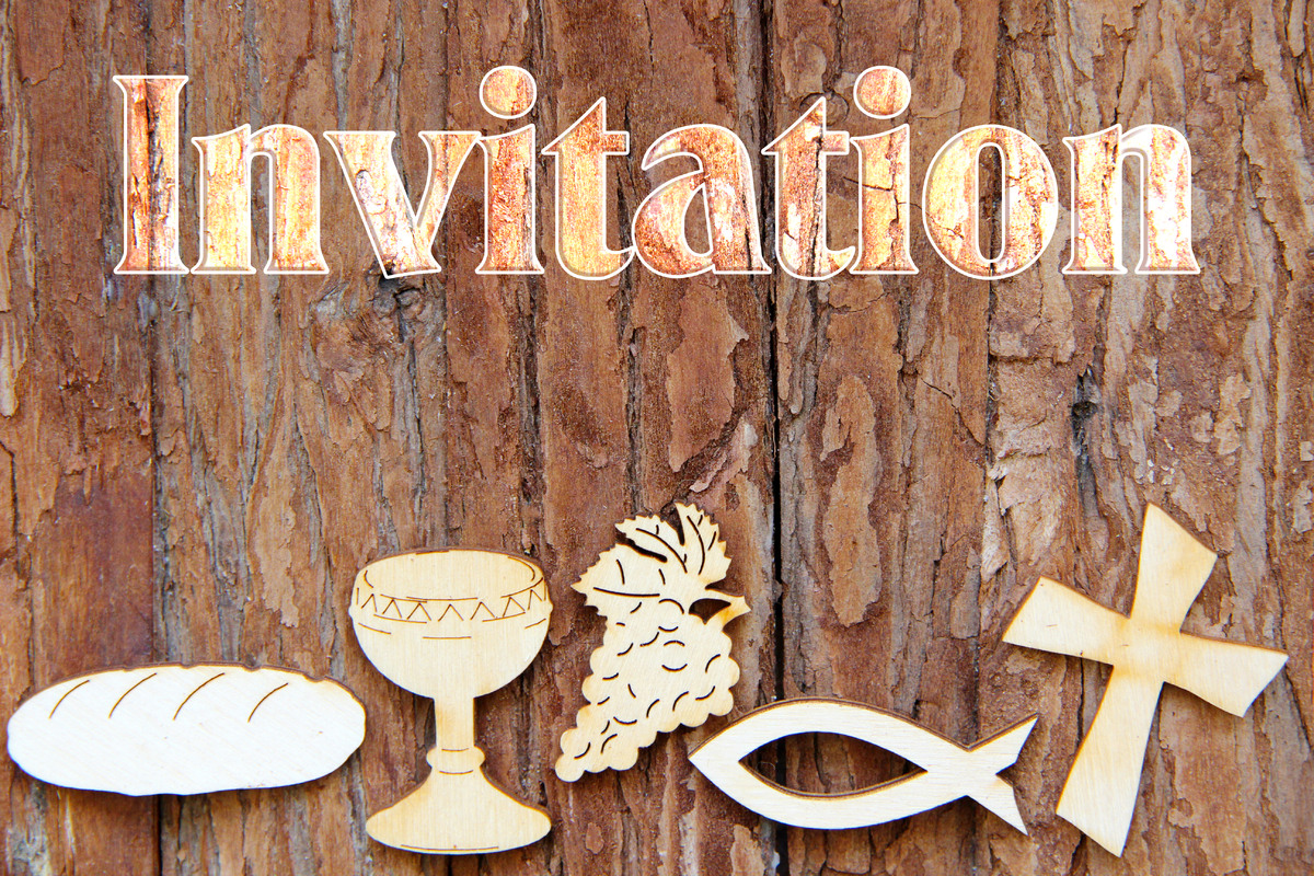 Carte invitation religieuse