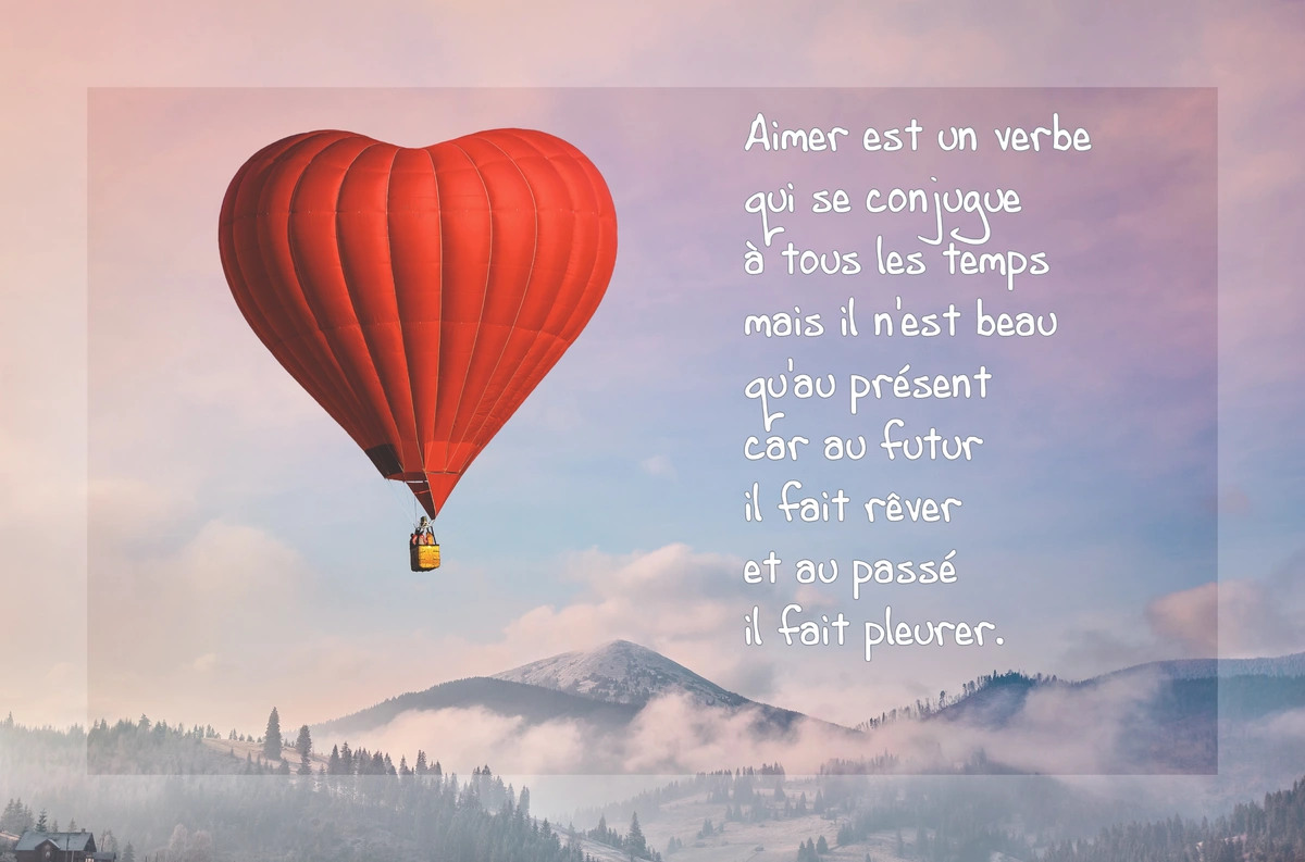 Carte citation amour