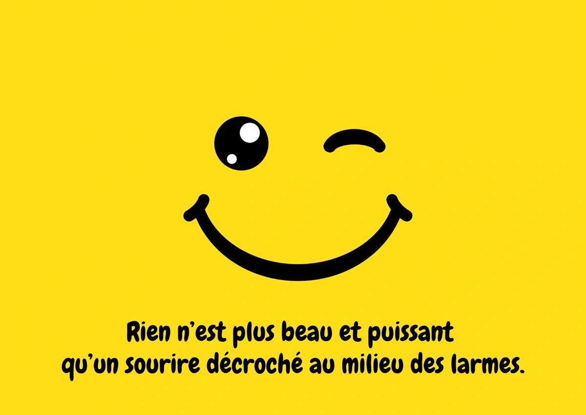 Carte tristesse sourire