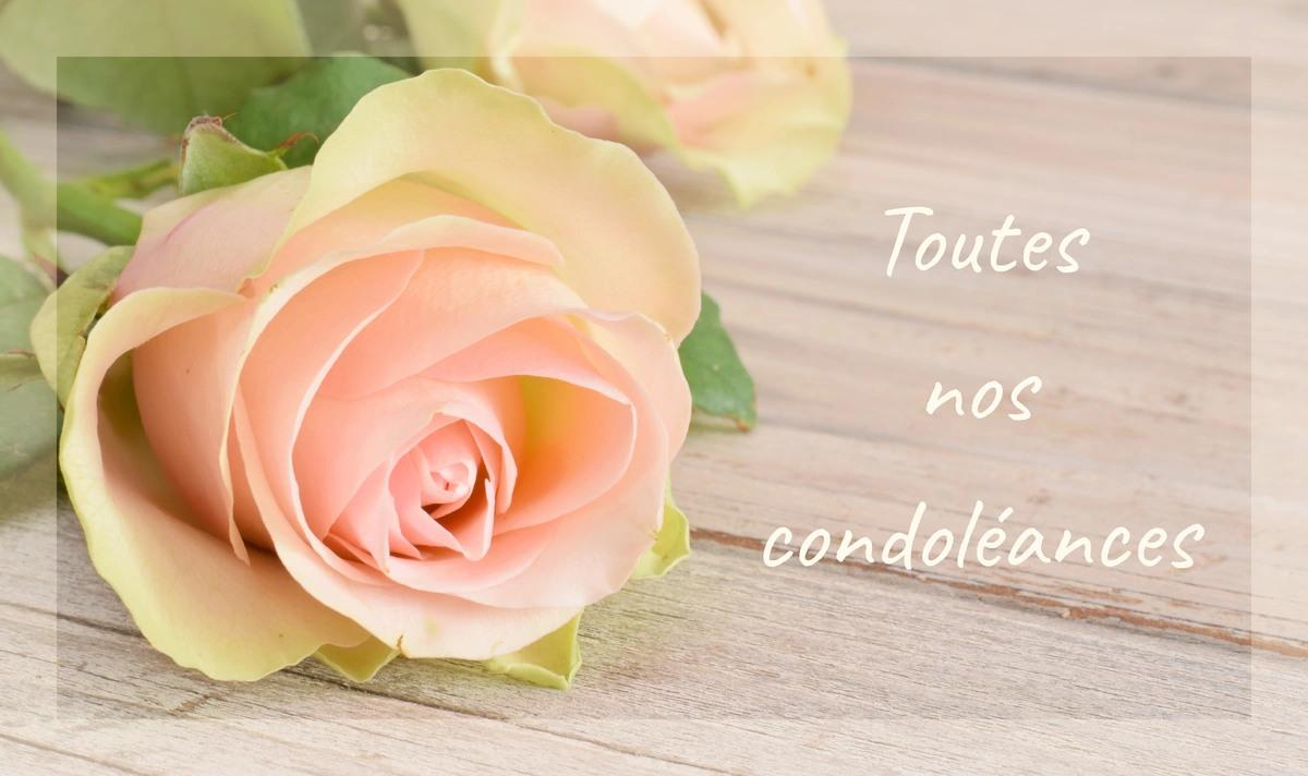 Carte toutes nos condoleances