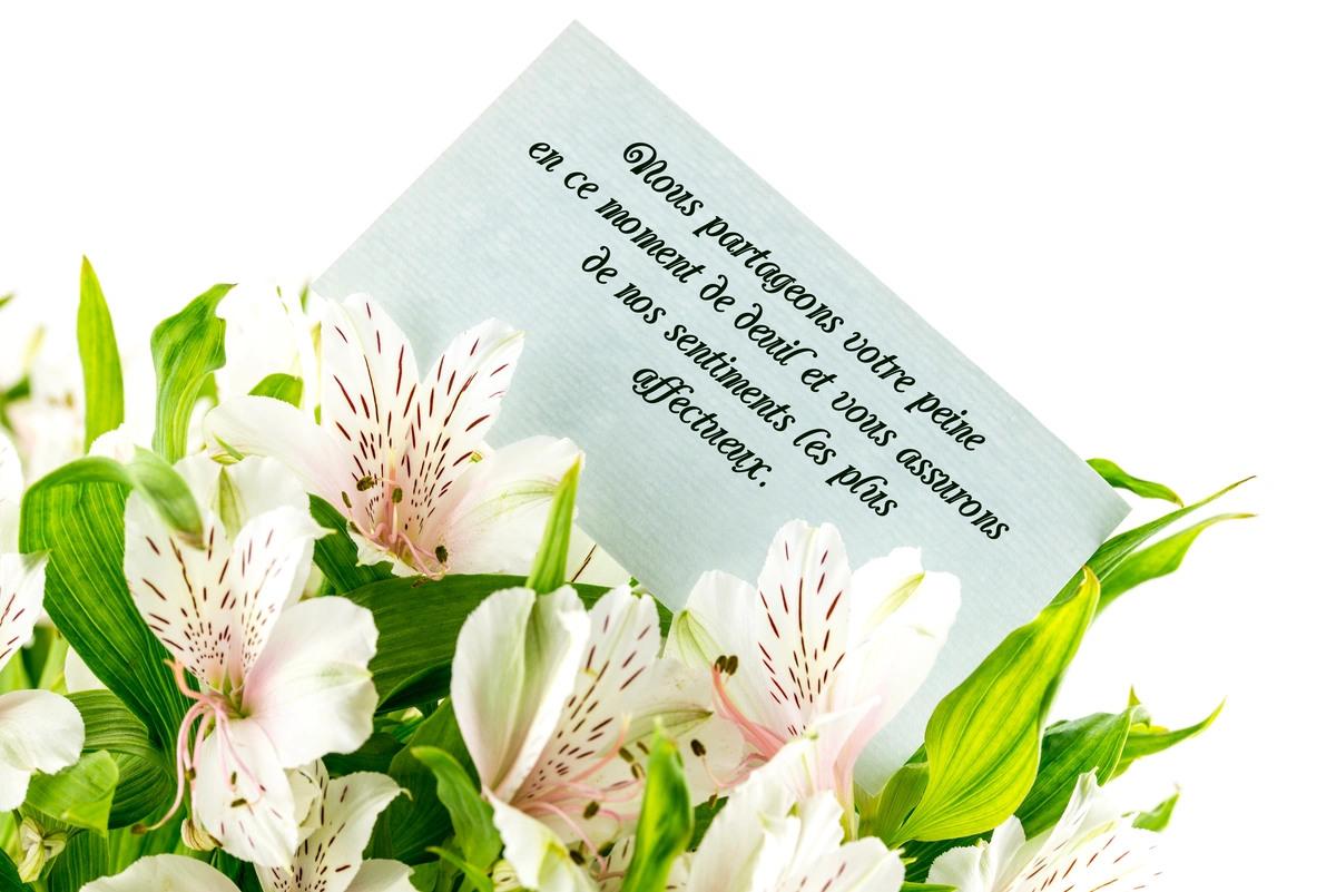 Condoleances message