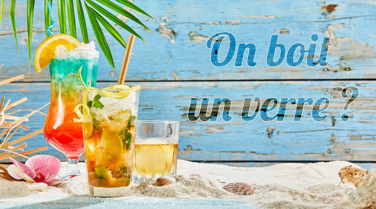 Carte virtuelle invitation boire un verre
