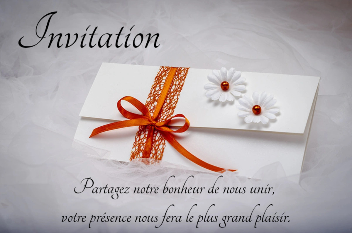 Cartes virtuelles invitation mariage - Joliecarte