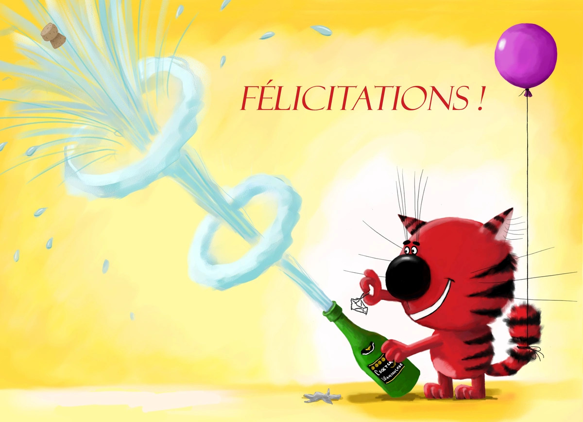 Carte de felicitations