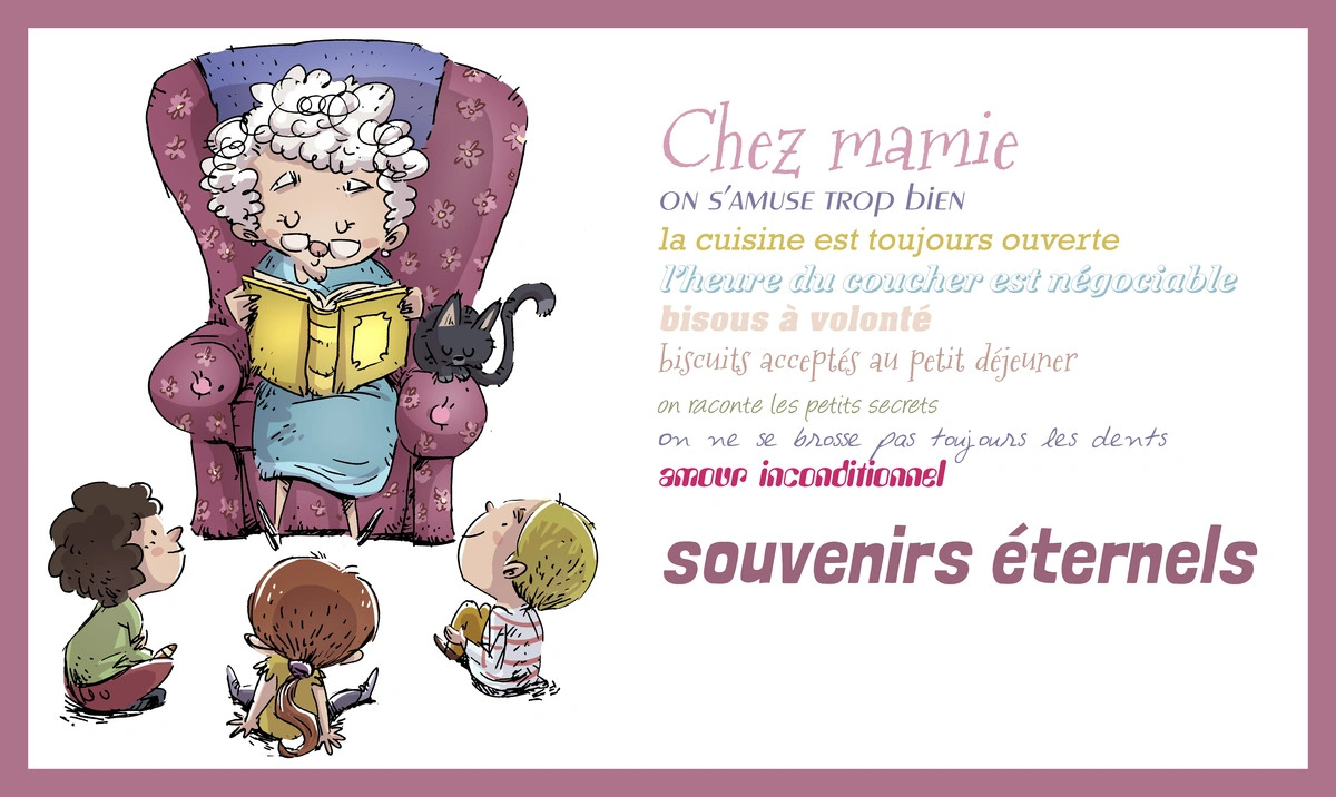Texte petit enfant grand parent