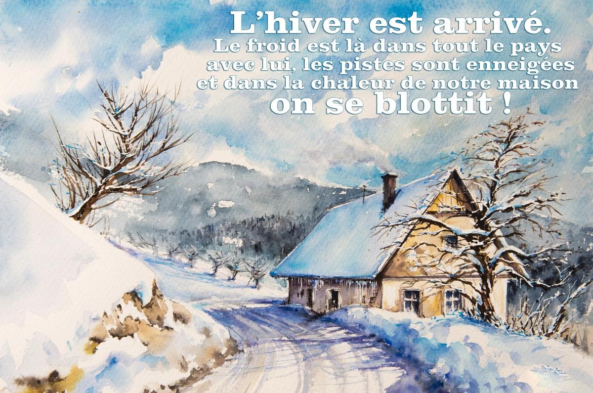 Carte virtuelle gratuite hiver