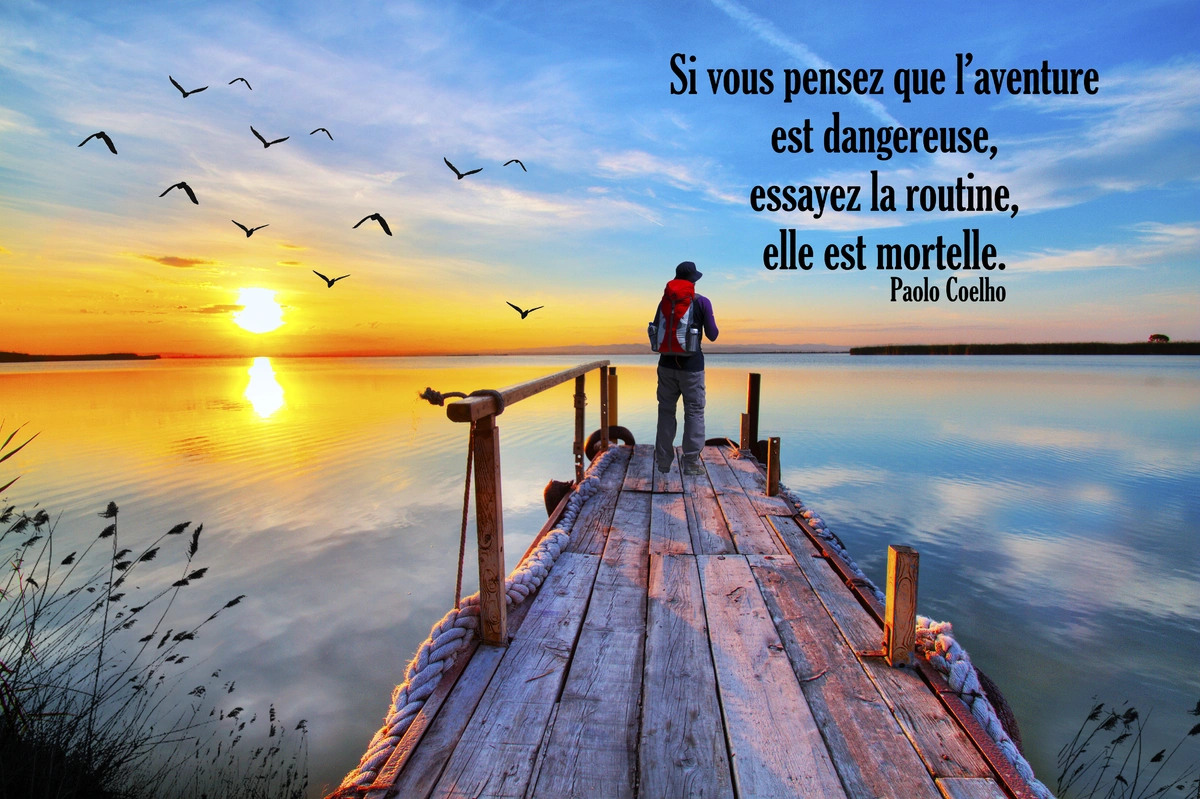 Texte citation sur la routine