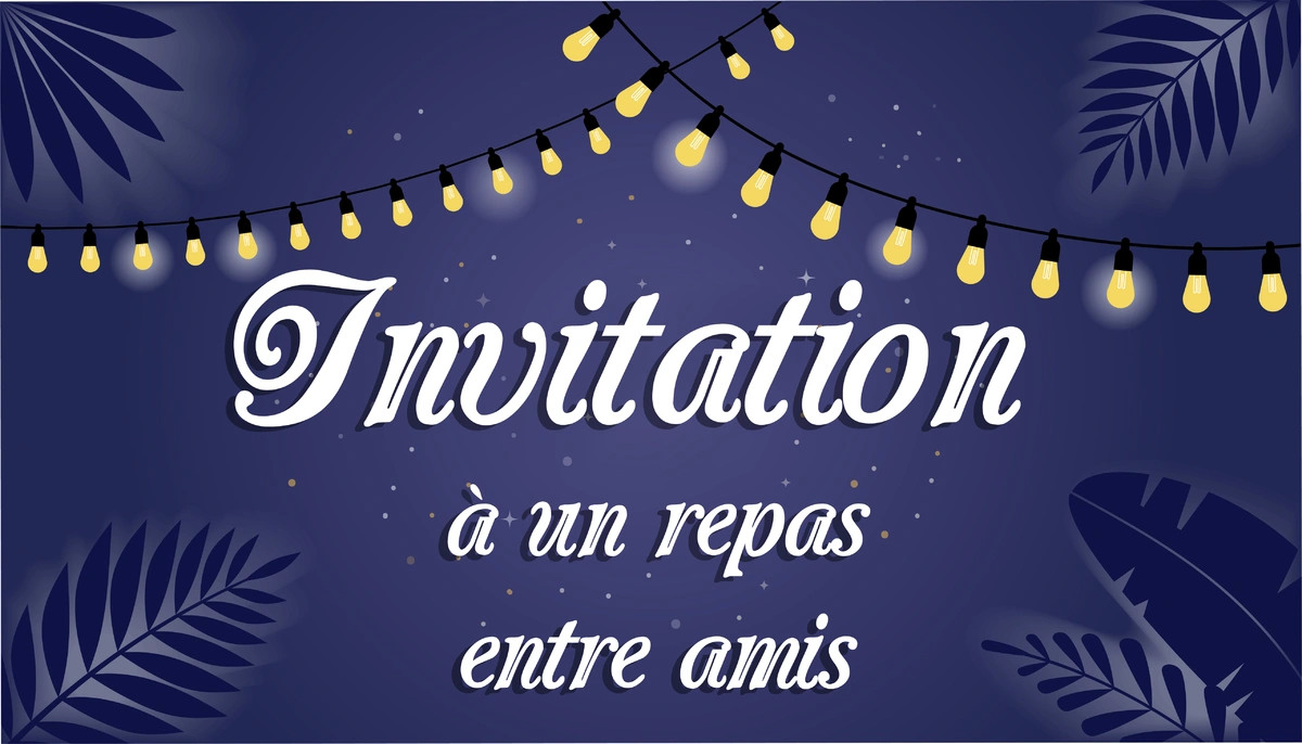 Carte invitation repas entre amis