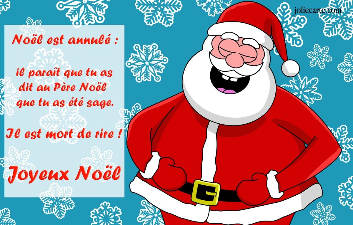 Cartes virtuelles pere noel blague joliecarte - Image humoristique pere noel ...
