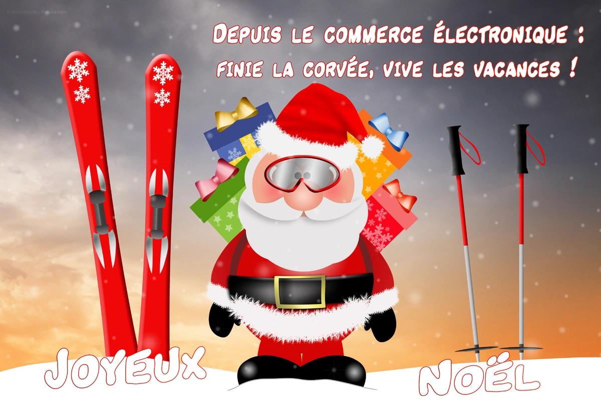 Cartes virtuelles pere noel humour joliecarte - Image humoristique pere noel ...