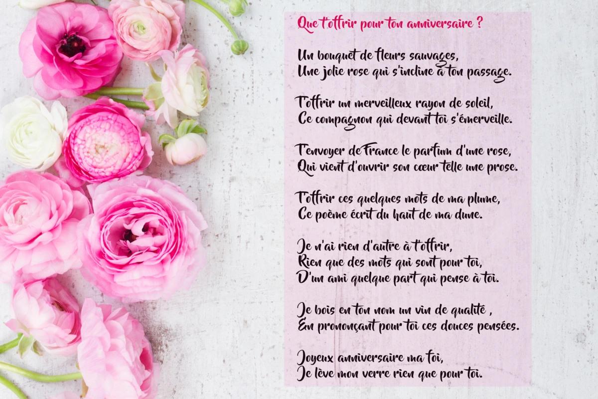 jolie carte bouquet de fleurs Cartes virtuelles poeme anniversaire   Joliecarte