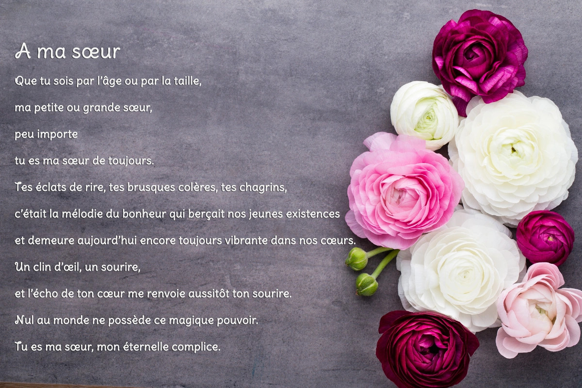 Message D Anniversaire Pour Sa Soeur