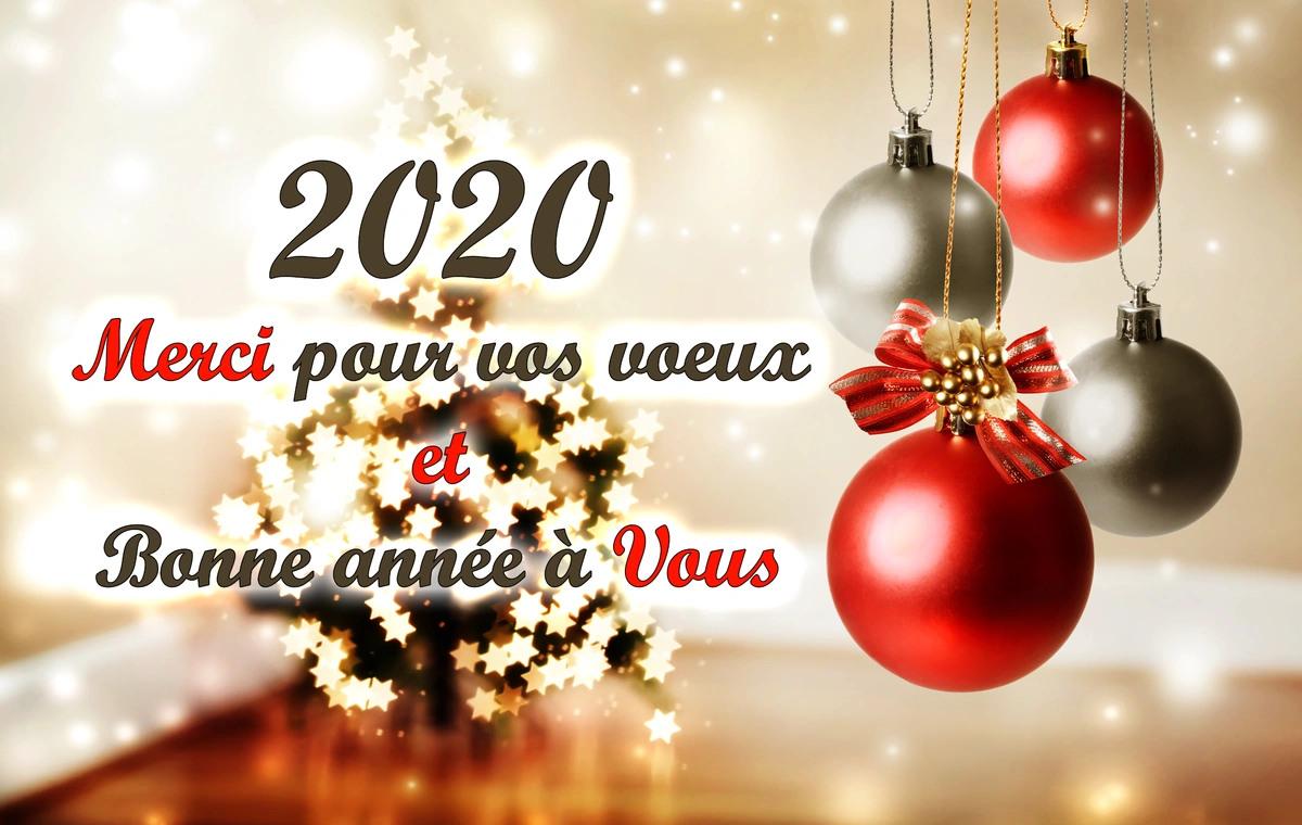 Remerciements voeux gratuit nouvel an