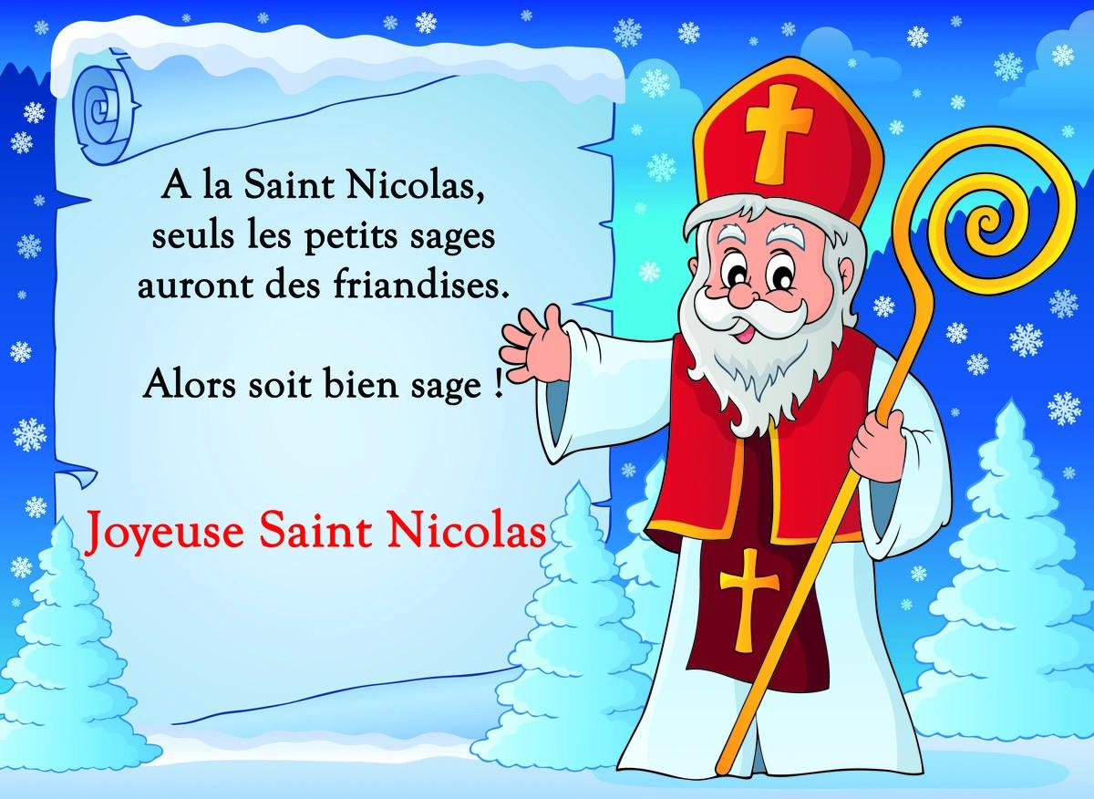 Carte pour la saint nicolas