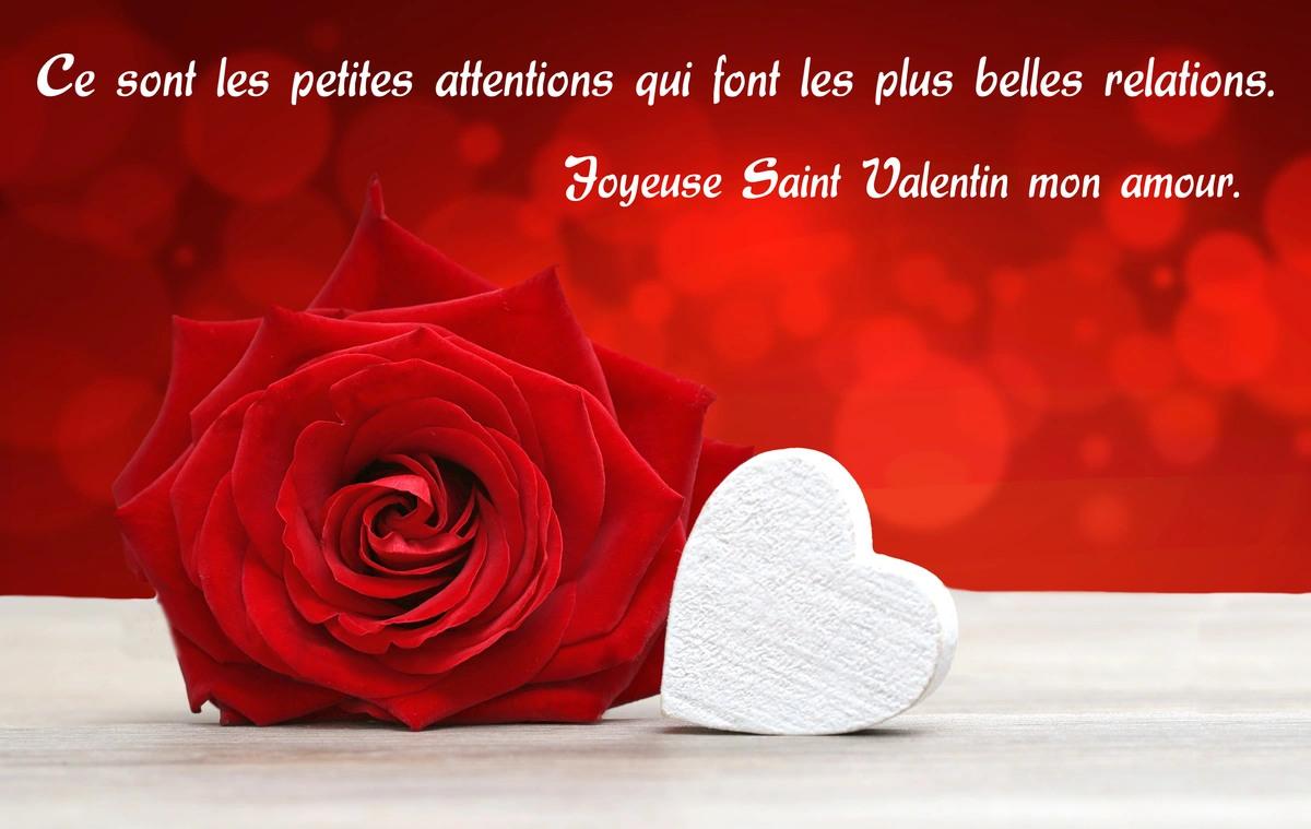 Texte pour la saint valentin
