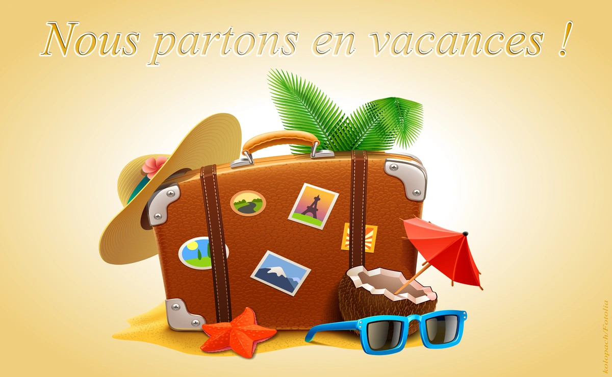 Nous partons en vacances