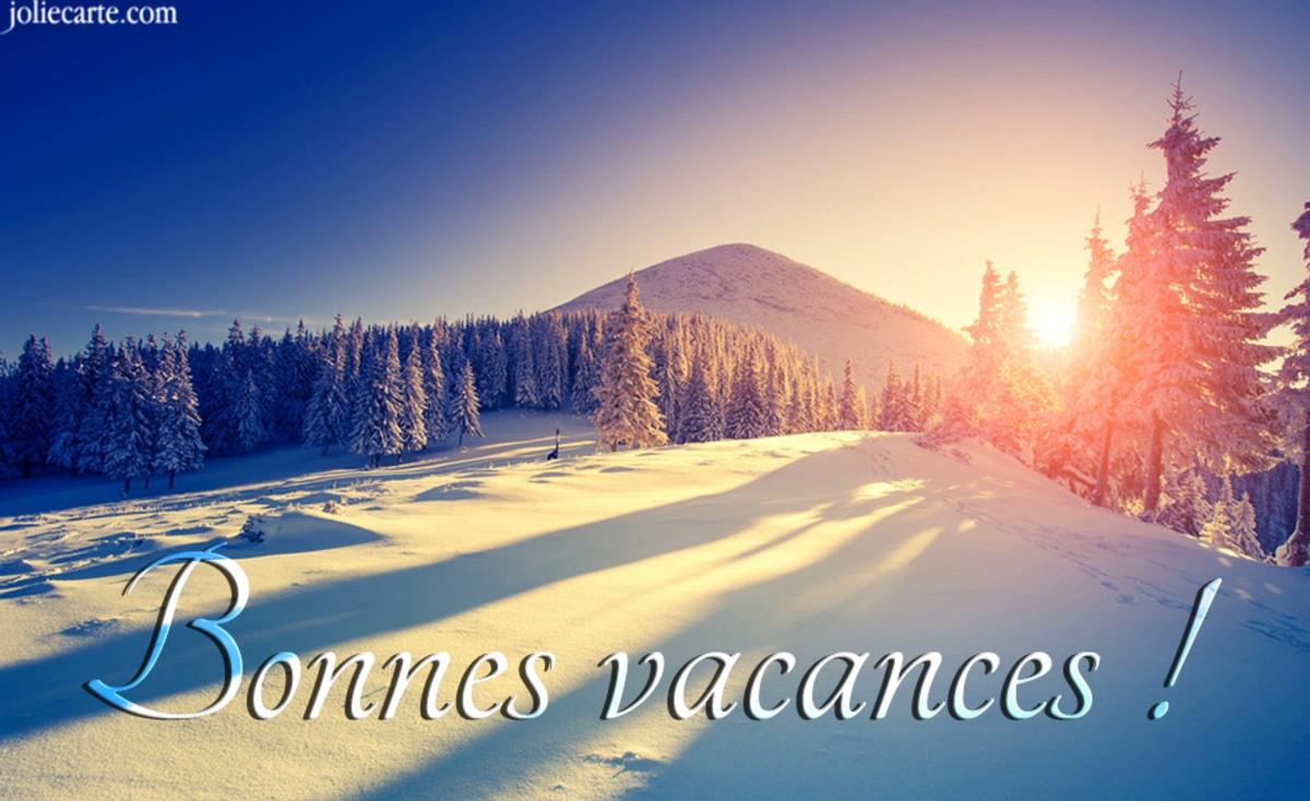 Bonnes vacances neige