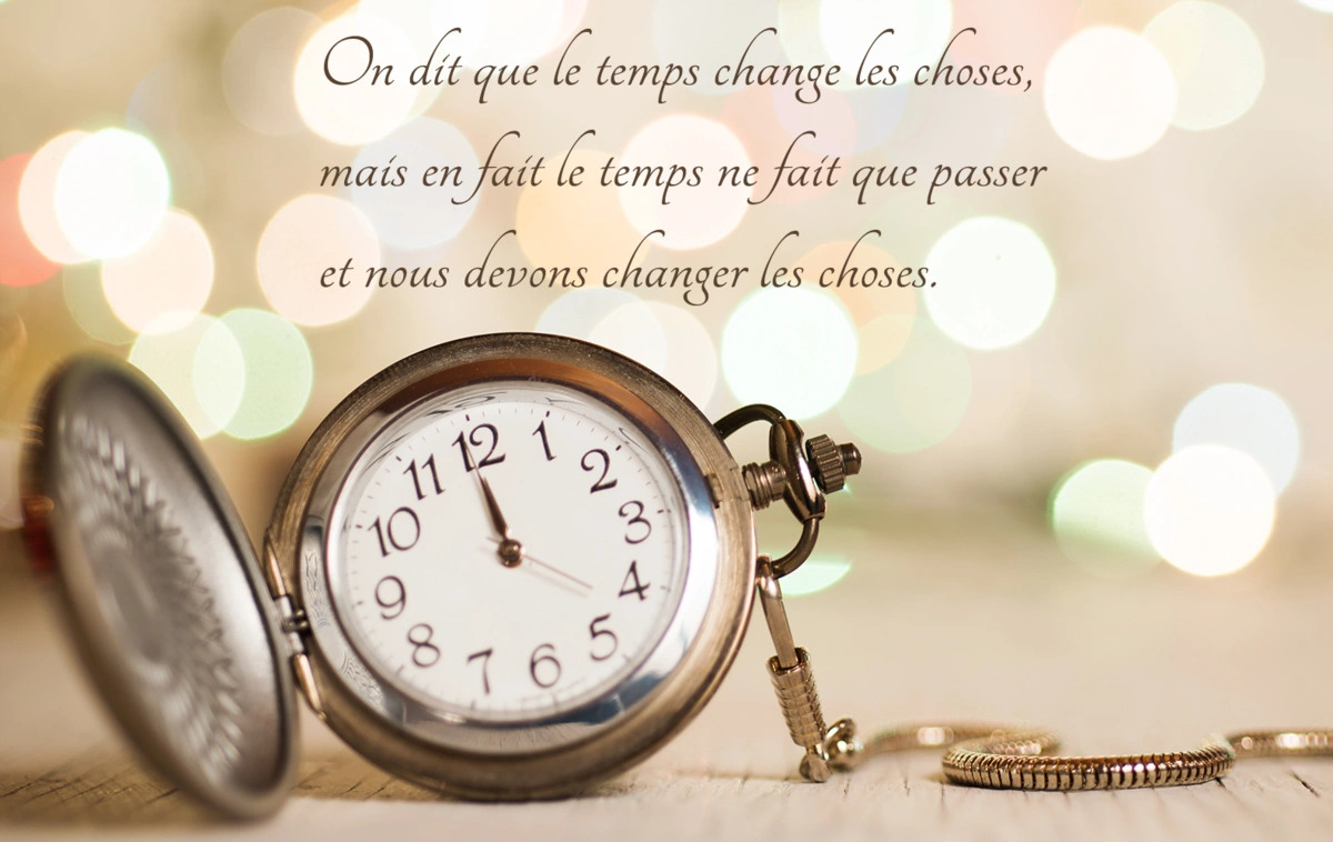Le temps change les choses