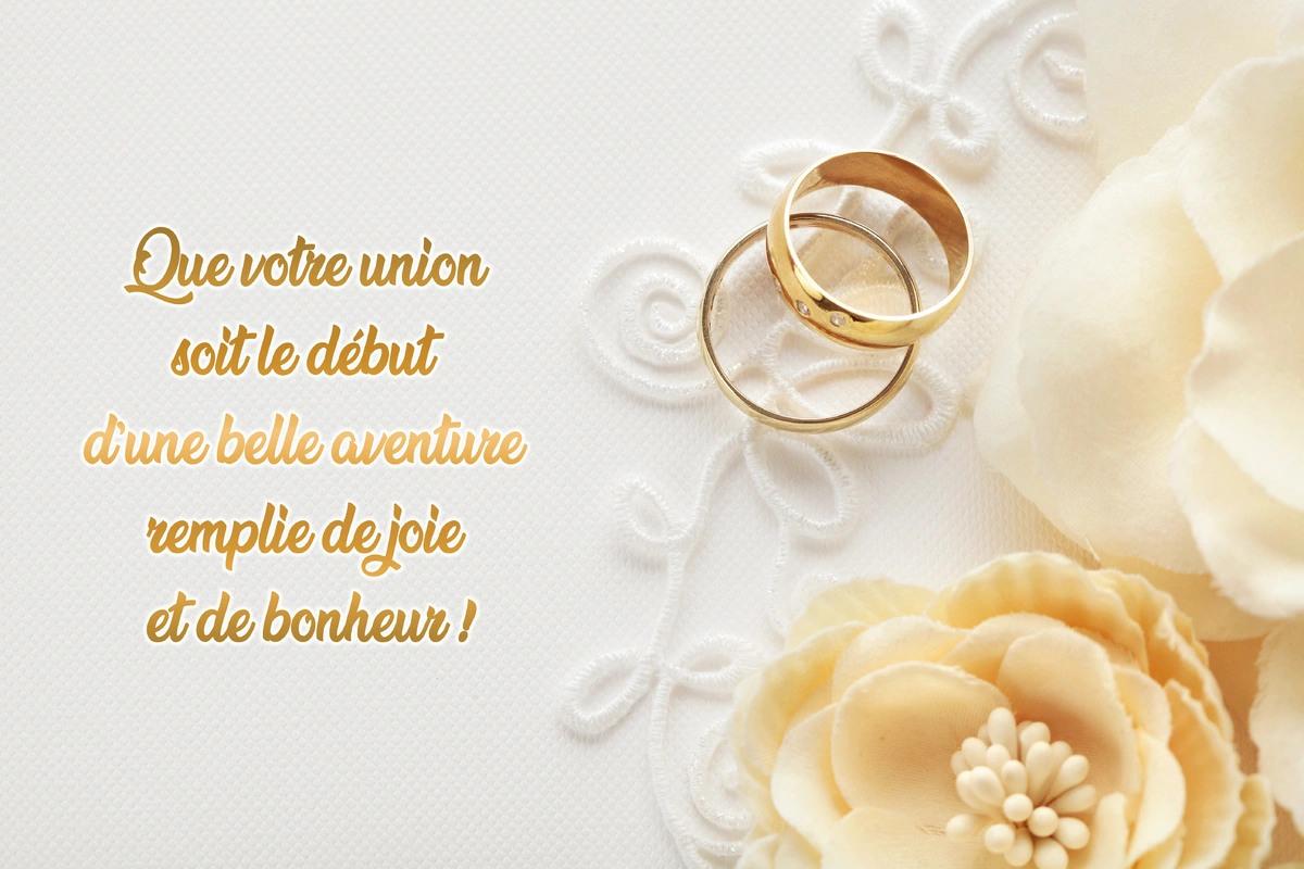Cartes virtuelles felicitations de mariage