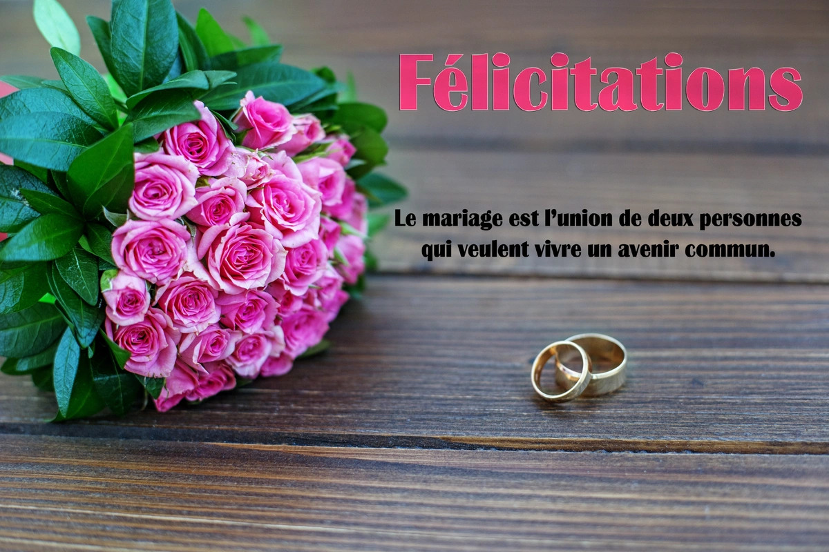 Felicitations mariage