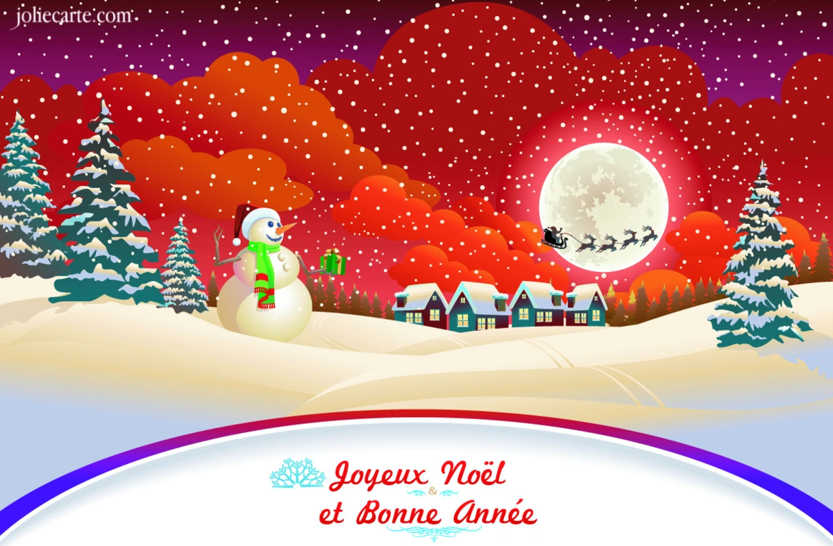 Photos De Joyeux Noel Et Bonne Annee.Cartes Virtuelles Joyeux Noel Et Bonne Annee Joliecarte